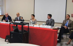 The League of Women Voters of Connecticut hosted a panel to discuss the Common Core Saturday. From left are