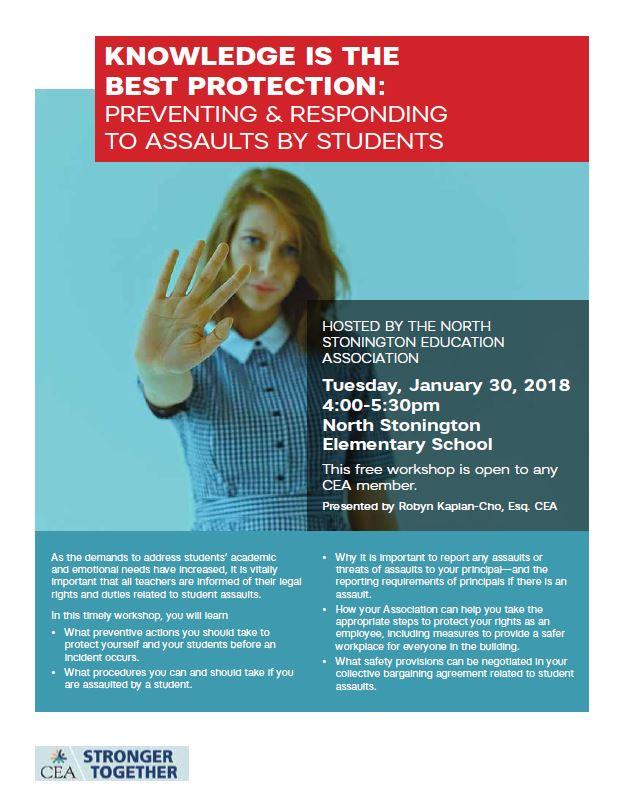 CEA student assault workshop